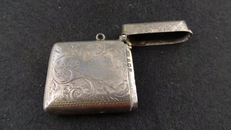 Buy Antique Hallmarked Silver Vesta Case From Moonee Ponds