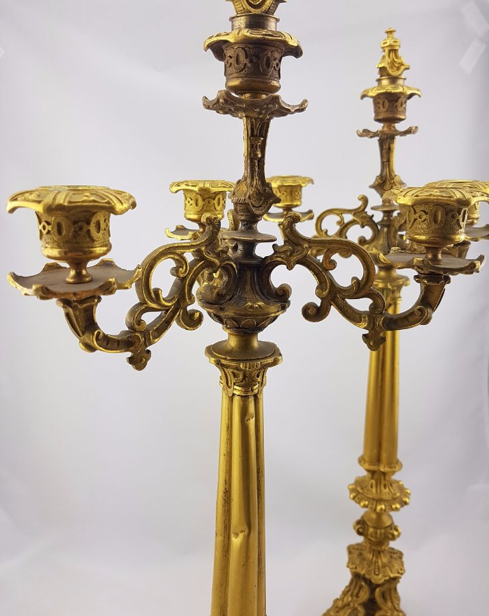 Buy French Gilt Bronze Candlesticks From Moonee Ponds Antiques