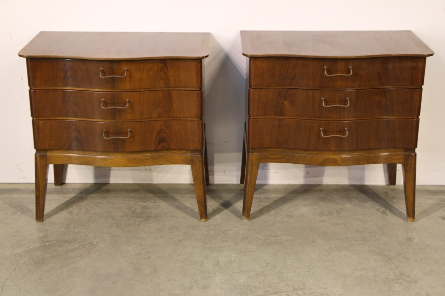 Buy Pair Danish Bedsides Mid Century 1950 From Antiques